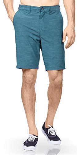 Golf Shorts for Mens Hybrid Boardshorts Stretch Swim Trunks Short Navy - 34