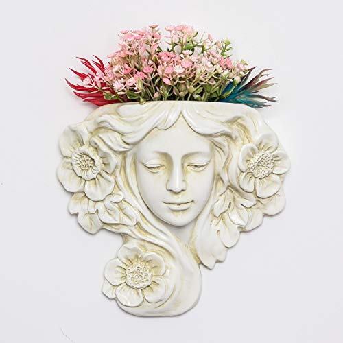 simpdecor Wall Hanging Plant Pot Angel Planter Vase for Succulent Plants Faux Plants Indoor or Outdoor Hanging Decor