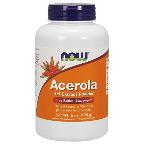 NOW Acerola 4:1 Extract Powder, 6-Ounces (Pack of 2)