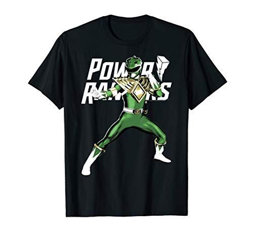 Power Rangers Green Ranger Action Pose Logo T-Shirt