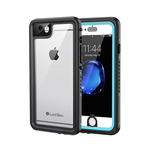Lanhiem Funda Impermeable iPhone 6 / 6s, Carcasa Sumergible Resistente Al Agua IP68 Certificado [Protección de 360 Grados], Carcasa para iPhone 6 y 6s con Protector de Pantalla Incorporado,Azul
