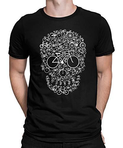 Camiseta para hombre y mujer Camiseta de ciclismo para hombre con diseño de calavera M