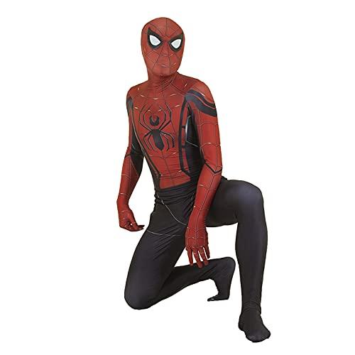 Enfant Spider Man Combinaison Halloween Cosplay Onesies Body Collants De Performance Tenues Déguisements Adultes Zentai Costume Enfants Cadeaux d'anniversaire,Red-Adult/2XL/175~180cm