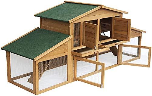 Caja de almacenamiento de conejo - de madera maciza alta, ideal para caja de almacenamiento de uso al aire libre animales pequeños,Wood