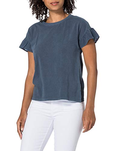 ESPRIT Damen 031EE1K342 T-Shirt, 400/NAVY, M