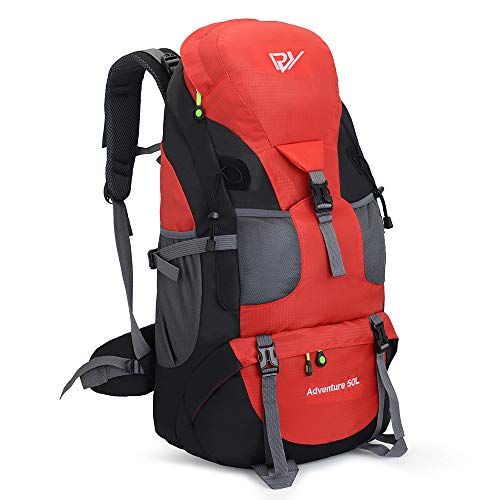 RuRu Monkey 50 Liter Hiking Backpack Daypack for Outdoor Camping Traveling