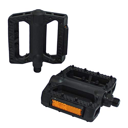 M-Wave Freestyle BMX MTB Platform Pedals 9 / 16 Inches,Black by M Wave