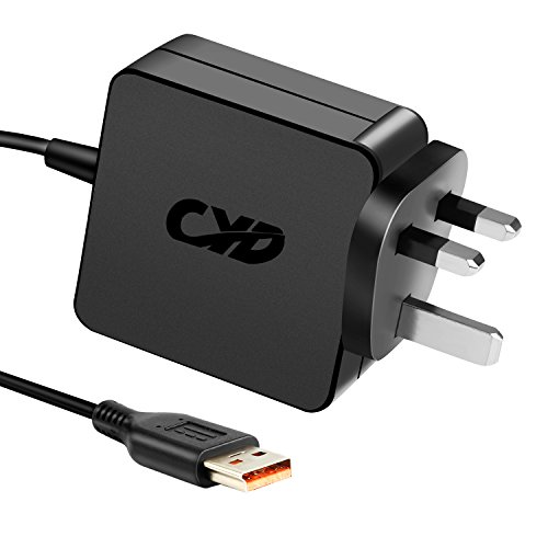CYD PowerFast-Ersatz-Laptop-Ladegerät für Lenovo Yoga 3 1170 1470 1370 700 11 14 Pro 900S-12ISK IdeaPad Miix 700 80QL0008US ADL40WDB ADL40WCC,8,2FT AC-Netzadapter Kabelkabel.