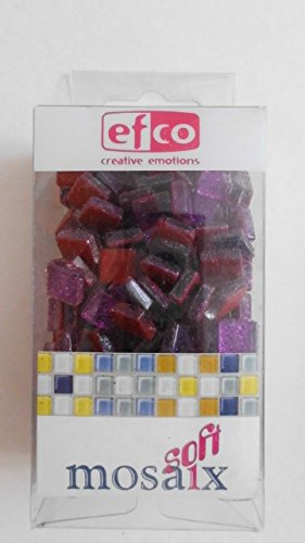 MosaixPro 10x 10x 4mm 200g 215-piece Glas Glitzer Fliesen, Mauve