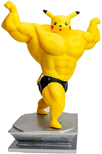 Yhk Muscle Bulbasaur And Pikachusquirtlecharmander Figure Bodybuilding Collectionpikachu Cosplay Muscle Man Pikachu