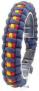 Pulsera de ESPAÑA de paracord, hecha a mano y a medida mod. BASIC, color AZUL MARINO.
