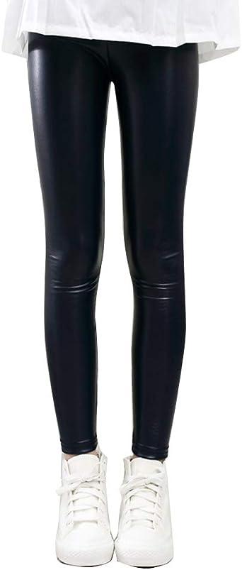 Ugitopi Bambini Ragazze Leggings in Foderati Pantaloni Invernali Lunghi Spessi Stretch Pantalone