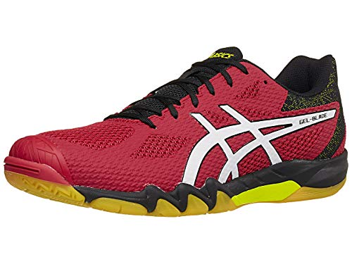 ASICS Men's Gel-Blade 7 Court Shoes, 10.5M, Speed RED/White