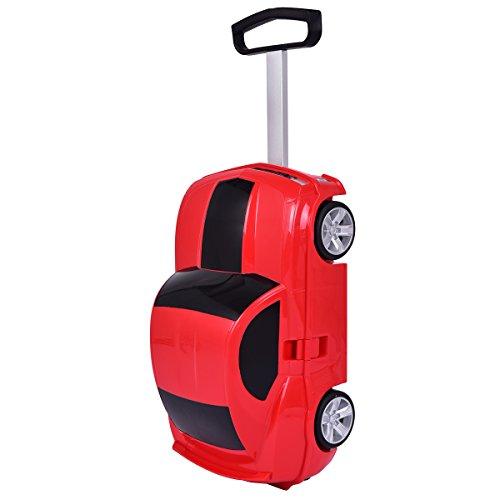 Equipaje Maleta Con ruedas para niños en la forma de coche Viaje caja...