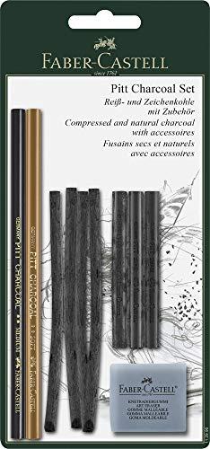Faber-Castell 112996 - 10-teiliges PITT Charcoal Set