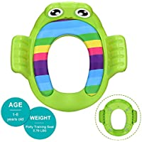 HENGDAEVER Potty Training Seat with Handles and Backrest