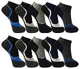 Pesail 10 Paar Herren Sneaker Socken Größe 39-46 (43-46)