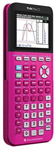 Texas Instruments TI-84 Plus CE Color Graphing Calculator, Positively Pink Photo #3