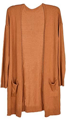 styleBREAKER dames fijn gebreid vest met opgestikte zakken, vest zonder sluiting, gebreide jas, Onesize 08010063