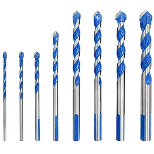 Fltaheroo Juego de Brocas de Carburo Cementado Multimaterial Azul para Baldosas de CeráMica de Porcelana HormigóN Ladrillo Vidrio