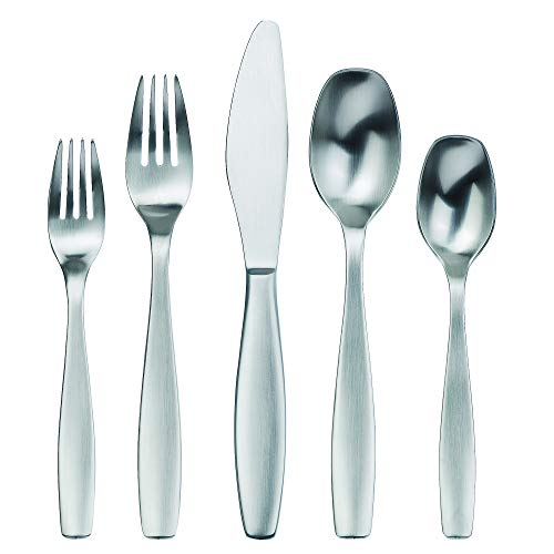 Gourmet Settings 20-Piece Silverware Non Stop Collection Matte Flatware Cutlery Kitchen Sets, Service for 4, Stainless Steel Utensils Knife/Fork/Spoons, Dishwasher Safe