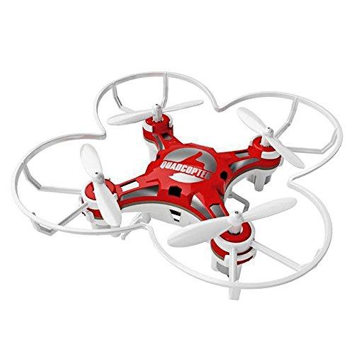Beetest - RC Mini Drone FQ777-124 Modello, 2,4GHZ 6-Axis Giroscopio Modalità Senza Testa Funzione Telecomando Quadcopter con Remote Controller (Rosso)