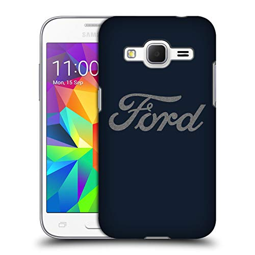 Head Case Designs Officially Licensed Ford Motor Company Detroit Ornament Logos Hard Back Case Compatible with Samsung Galaxy Core Prime