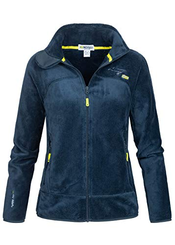 Geographical Norway Damen Fleece Jacke UPALINE Marineblau L