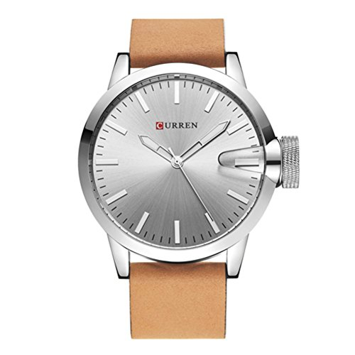 Reloj de los Hombres Originales de la Marca de Lujo de CURREN Relojes de Cuarzo Negros de la Fecha análogos a Prueba de Agua de los Hombres Reloj de Pulsera de los Hombres