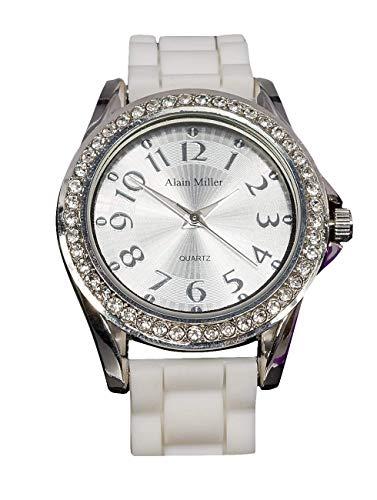 Alain Miller Herren Analog Quarz Uhr mit Silikon Armband RP6000000002