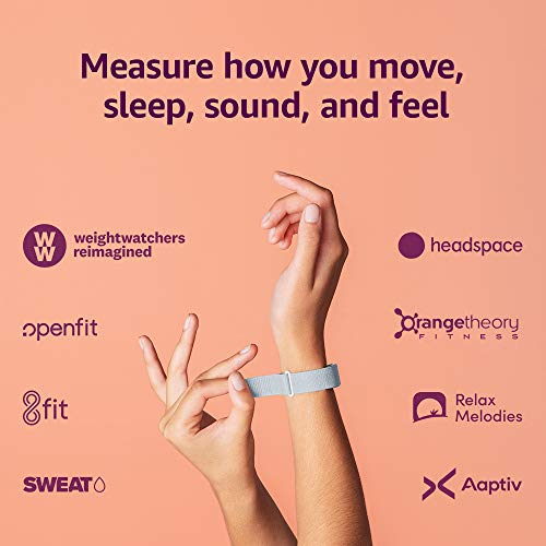 Amazon Halo Band – Measure how you move, sleep, and sound – Designed with privacy in mind – Winter + Silver – Small