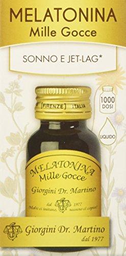 Dr. Giorgini Integratore Alimentare, Melatonina Mille Gocce Liquido Alcoolico Gocce - 30 ml