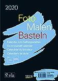 Foto-Malen-Basteln Bastelkalender A5 schwarz 2020: Fotokalender zum Selbstgestalten. Aufstellbarer do-it-yourself Kalender mit festem Fotokarton. - Korsch Verlag