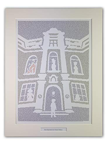 Litographs Great Expectations by Charles Dickens - Póster con texto en inglés