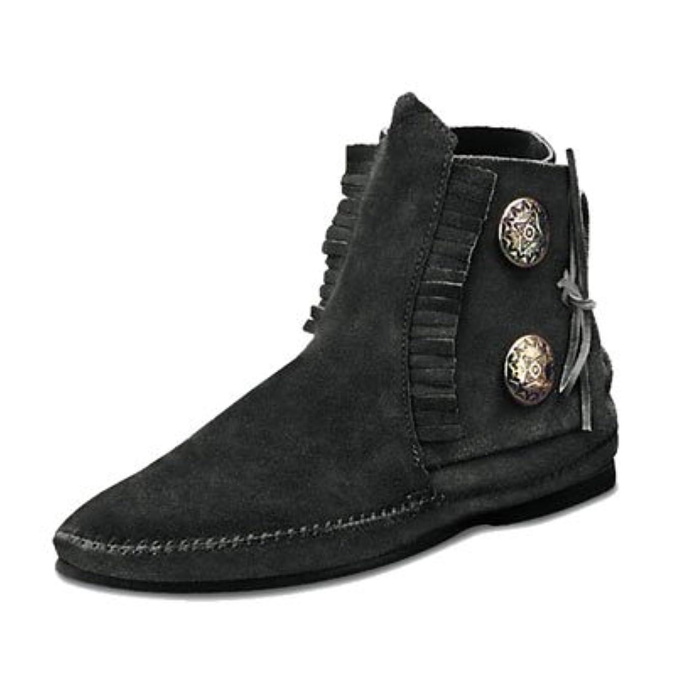 ブリークまでダーツ[ミネトンカ]MINNETONKA two Button Boots スエード 2ボタン ショートブーツ 442 449 【正規品】