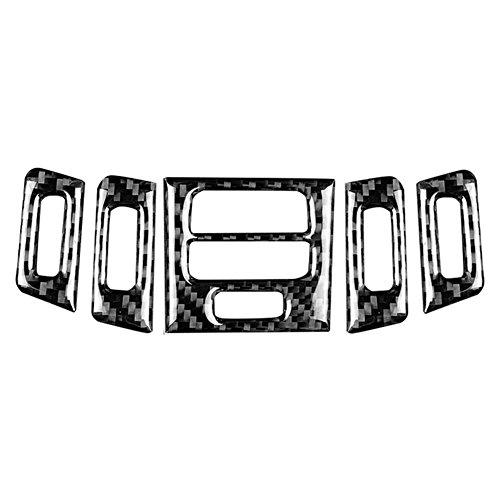 Ajuste de la cubierta del marco del panel del mercado del acondicionador de aire interior del coche de la fibra de carbono(Hard)