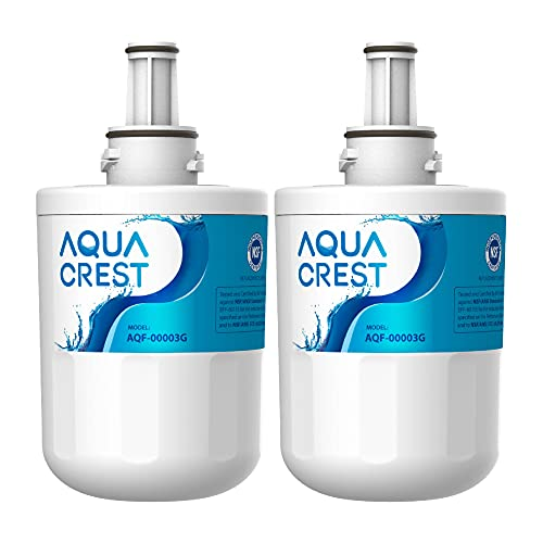 AQUACREST DA29-00003G Filtro Acqua Frigorifero, Compatibile con Samsung Aqua Pure PLUS DA29-00003G, DA29-00003B, DA29-00003A, DA97-06317A, HAFCU1/XAA, HAFIN2/EXP (2)
