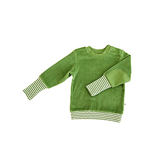 Leela Cotton Baby/Kinder Nicky Sweat-Shirt Bio-Baumwolle, Waldgrün, Gr. 98/104