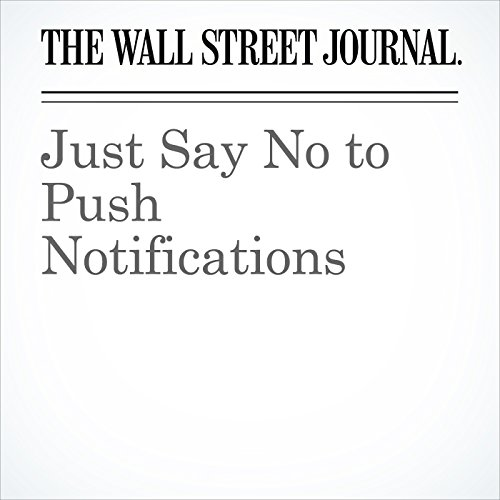 Just Say No to Push Notifications copertina