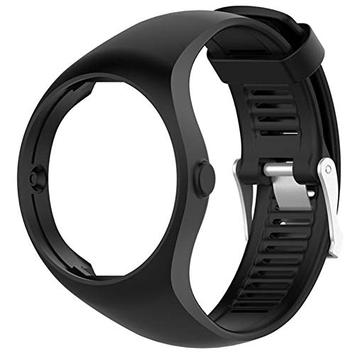 1pcs Sports De Plein Air Wristband Coloré Remplacement Bracelet for Wristband GPS Course À Pied Polar Silicone 6 Couleurs Convenience (Color : Black)