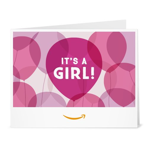 Amazon Gift Card - Print - It's a Girl Balloons