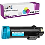 Limeink 1 Cyan Compatible High Yield Laser Toner Replacement Cartridges for Xerox Phaser 6510 Workcentre 6515 Printer 6515/dn 6515/dni 6510/dn dni