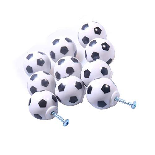 litulituhallo 10 pomos para aparador de fútbol, diseño deportivo, para decoración de muebles, 10 unidades