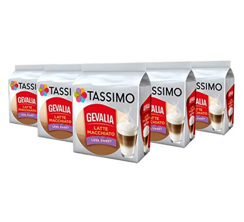 Tassimo Cafè Gevalia Latte Macchiato Less Sweet Café 8 dosettes - Paquet de 5 (40 Boissons)
