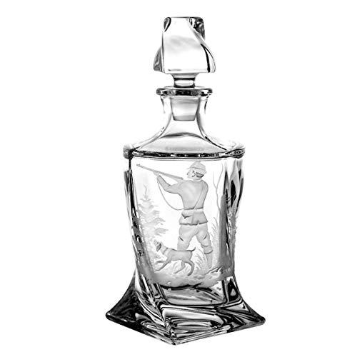 Crystaljulia Whiskeykaraffe, Glas, 850ml, 14,5 x 14,5 x 28 cm