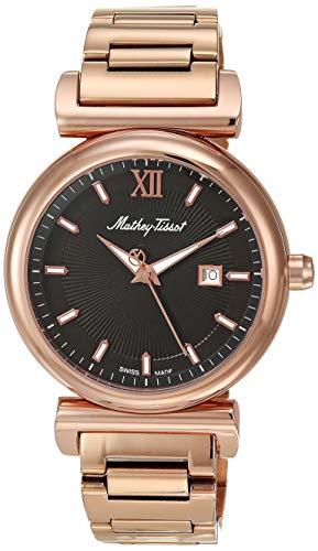 Mathey Tissot Men 's H410PN Quartz Rose Gold Watch