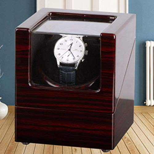 YLJYJ Automatischer Uhrenbeweger, New Massivholz Tischschüttler Mechanische Box Aufbewahrung Tisch Box Drehtisch Haushalt Single Mode