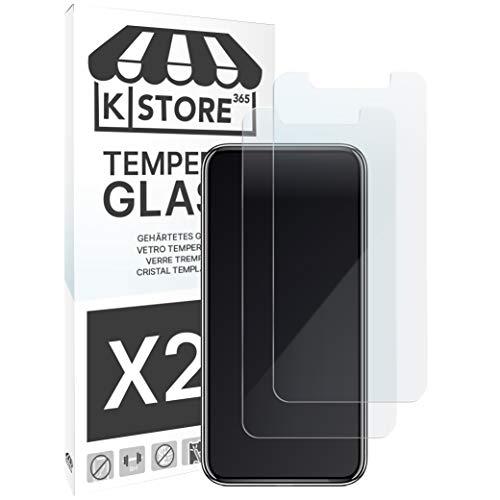 KSTORE365 [2 Piezas] Cristal Templado, Protector de Pantalla Vidrio Templado con [Adhesivo En Todo El Cristal] [9H Dureza] [2.5D Borde Redondo] para Xiaomi Redmi 6 y 6A
