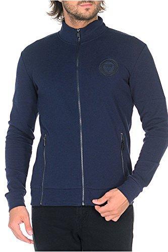 Guess Jeans-Jacke, Sport/Streetwear mit Reißverschluss, gerade, M74Q35 Gr. Medium, Les Bleus