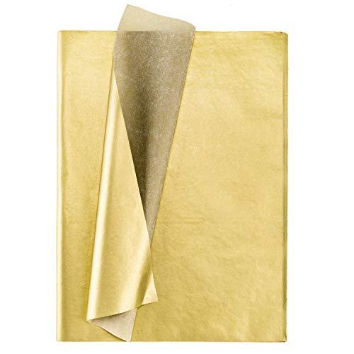 Whaline Lot de 100 feuilles de papier de soie métallique